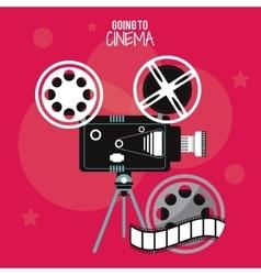 video camera movie film cinema icon vector image