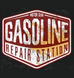Vintage gasoline motor oil t-shirt printing vector