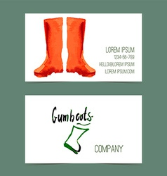 Watercolor gumboots vector image