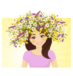 Woman in wreath vector image