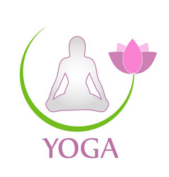 woman in yoga pose vector image