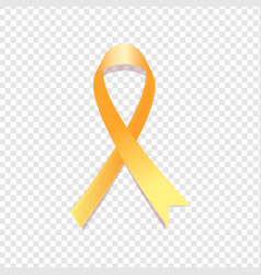 Yellow awareness ribbon vector