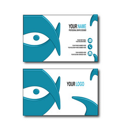 Blue eye bussines card vector