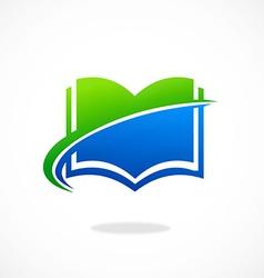 book icon e book abstract logo vector image vector image