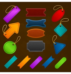 Collection of different vintage colorful design vector image vector image