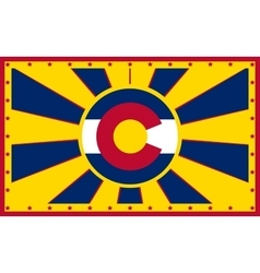Colorado state sun rays banner vector image vector image