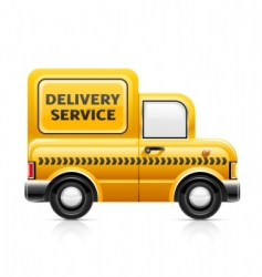 delivery service car vector image vector image