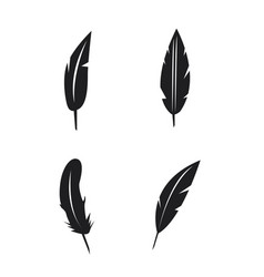 feather icons set on white background vector image vector image