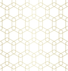 Golden abstract geometric pattern with rhombus vector image