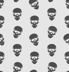 Seamless Texture with Human Skull Scary Background vector image