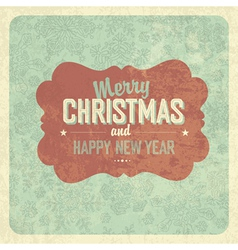 vintage greeting christmas vector image