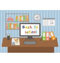 Back to school Pupil room interior vector image