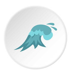 clear wave icon circle vector image