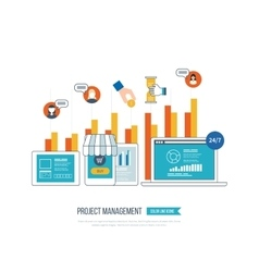 Concept for business analysis investment vector image vector image