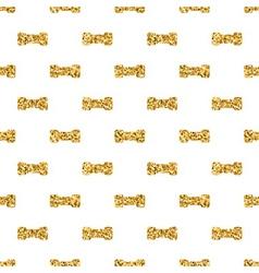 Dumbbell big geometric seamless pattern gold white vector