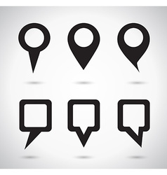 Map indicator elements vector image