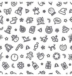 Christmas Symbols Seamless Pattern vector image