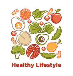 dietary natural products with low calories contain vector image