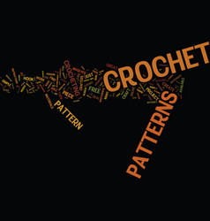 free crochet patterns text background word cloud vector image