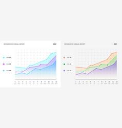 full editable infographic flat chart vector image