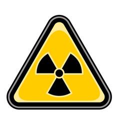 ionising radiation sign triangular sticker vector image