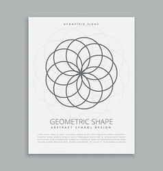 circles geometric shapes vector image vector image