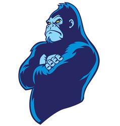 crossed arm gorilla vector image vector image