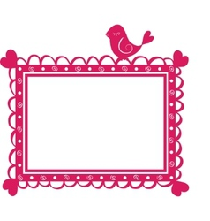 cute banner frame with bird vector image