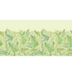 Green Fern Leaves Horizontal Seamless Pattern vector image vector image