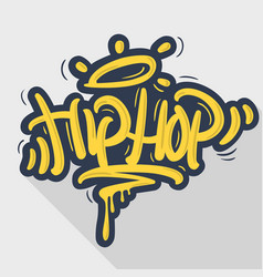 hip hop tag graffiti style label lettering vector image vector image