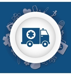 Medical ambulance first aids vector image