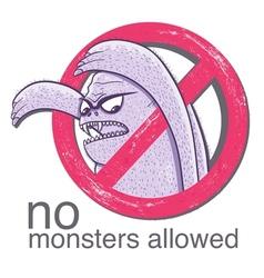 No monster allowd sign vector