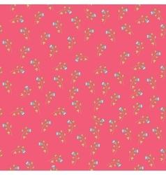 Seamless vintage flower pattern vector image
