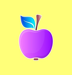 Abstract violet apple vector image