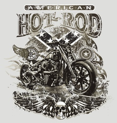 american hot rod motorcycle vector image