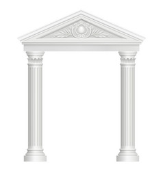 antique arch colonnade palace entrance vector image