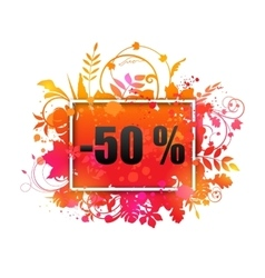 Autumn Sale -50 Discount Grunge Banner vector image
