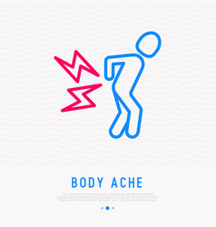 backache radiculitis thin line icon vector image