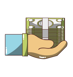 Bill cash money in the hand vector