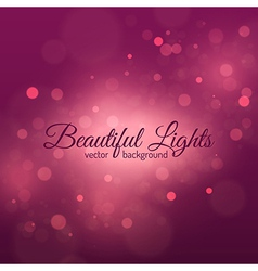 Bokeh Light Vintage Background vector image