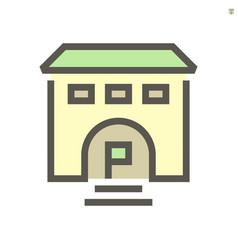 business training school icon design vector image
