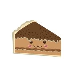 Cake kawaii dessert cute sweet food icon vector