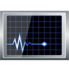 Cardiogram on screen vector