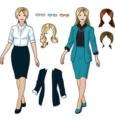 Caucasian Businesswoman in elegant formal wear vector image