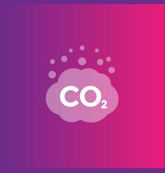 Co2 emissions combustion icon vector