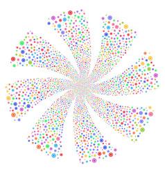 Cog fireworks swirl flower vector