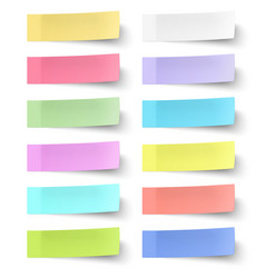 Colour sticky notes isolated on white background vector