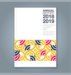 Cover annual report 823 vector