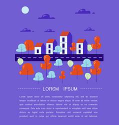 cozy town modern flat design vector image
