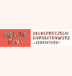 creative latin font or decorative english alphabet vector image